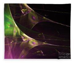 A Space Aurora Fleece Blanket