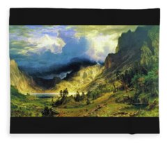 A Storm In The Rocky Mountains, Mt Rosalie - Digital Remastered Edition Fleece Blanket