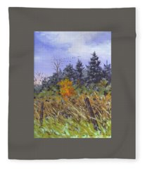 A Touch Of Color Sketch Fleece Blanket