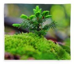 A Tree Is Born Fleece Blanket