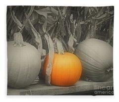 A Trio Of Pumpkins Fleece Blanket