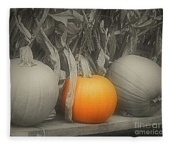 A Trio Of Pumpkins Fleece Blanket