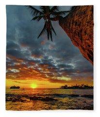 A Typical Wednesday Sunset Fleece Blanket
