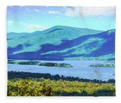 A View Of Lake George,adirondack Park New York. Fleece Blanket