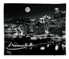A View Of Pittsburgh Pa From Above Fleece Blanket