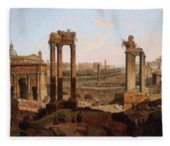 A View Of The Forum Romanum Fleece Blanket