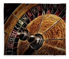 A Virginia City Roulette Wheel Fleece Blanket