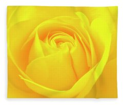 A Yellow Rose For Joy And Happiness Fleece Blanket