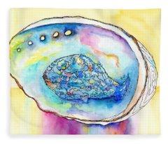 Abalone Shell Reflections Fleece Blanket