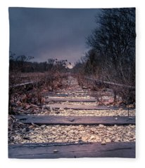 Fleece Blanket featuring the photograph Abandoned by Allin Sorenson