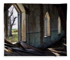 Abandoned Church #2 Fleece Blanket
