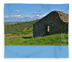 Abandoned Cottage In Alentejo Fleece Blanket