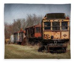 Abandoned Train Fleece Blanket