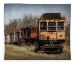 Abandoned Train Fleece Blanket
