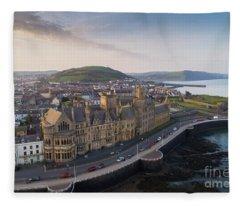 Aberystwyth Old College At Dawn Fleece Blanket