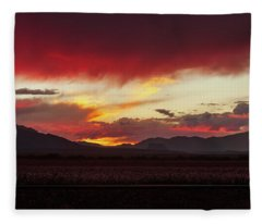 Fleece Blanket featuring the photograph Ablaze by Rick Furmanek