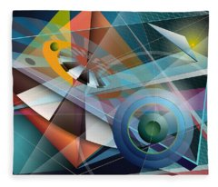 Abstract 4 Fleece Blanket