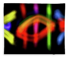 Abstract 48 Fleece Blanket