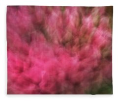 Abstract Blurred Floral Like Background Of Pinks And Greens Fleece Blanket