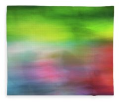 Abstract Blurred Rainbow Lines Background Of Fractal Artwork Fleece Blanket