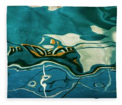 Abstract Boat Reflection V Color Fleece Blanket