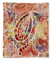 Abstract Bold Colors And Zen Circle Designs Digital Mixed Media By Omaste Witkowski  Fleece Blanket