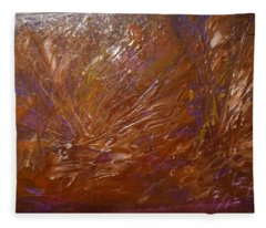 Abstract Brown Feathers Fleece Blanket