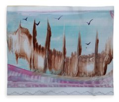 Abstract Castles Fleece Blanket