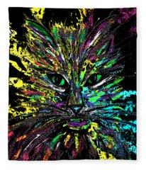 Abstract Cat  Fleece Blanket