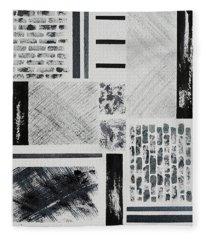Abstract Collage Fleece Blanket