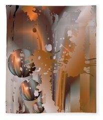 Abstract Copper Fleece Blanket