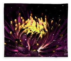Abstract Digital Dahlia Floral Cosmos 891 Fleece Blanket