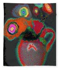 Abstract Floral Art 364 Fleece Blanket