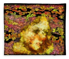 Abstract Flower Girl Fleece Blanket