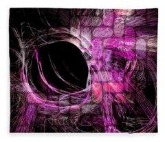 Abstract Heaven Magenta Fleece Blanket