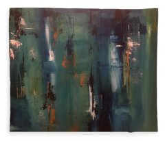 Abstract IIi Fleece Blanket