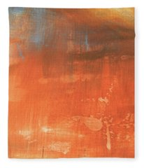 Fleece Blanket featuring the painting Abstract In Orange by Jocelyn Friis