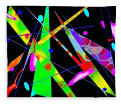 Abstract Kandinsky Fleece Blanket