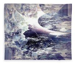 Abstract Ocean Enigma Fleece Blanket