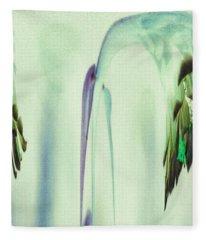 Abstract Soothing Green Fleece Blanket