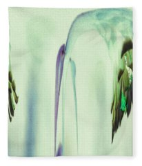 Abstract Soothing Green Fleece Blanket