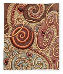 Abstract Spiral 1 Fleece Blanket
