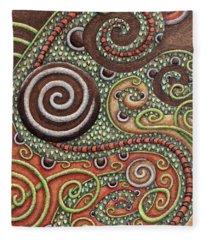 Abstract Spiral 10 Fleece Blanket