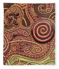 Abstract Spiral 11 Fleece Blanket