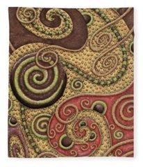 Abstract Spiral 3 Fleece Blanket