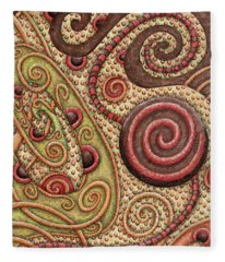 Abstract Spiral 4 Fleece Blanket