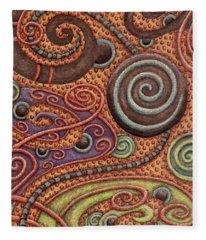 Abstract Spiral 5 Fleece Blanket