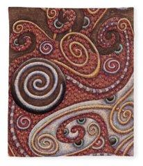 Abstract Spiral 6 Fleece Blanket