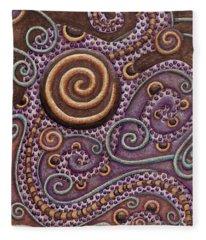 Abstract Spiral 8 Fleece Blanket