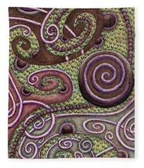 Abstract Spiral 9 Fleece Blanket